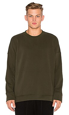 Stampd Draped Crew in Olive