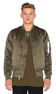 Stampd Charmeuse Bomber in Olive