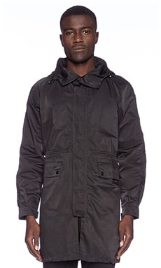Stampd Raincoat in Black