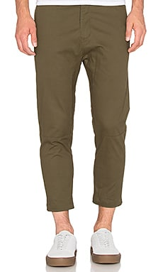 Stampd Cropped Chino in Dark Olive