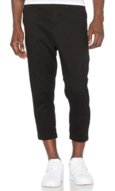 Stampd Cropped Chino in Black