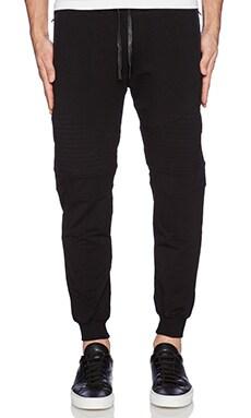 Stampd Essential Moto Warm Up Pants in Black
