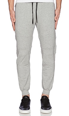 Stampd Essential Moto Warm Up Pants in Heather Grey