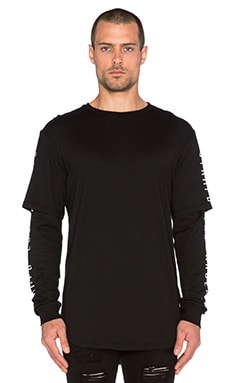 Stampd Layered L/S Tee in Black