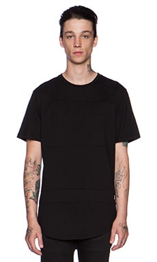 Stampd Essential Panel Tee in Black
