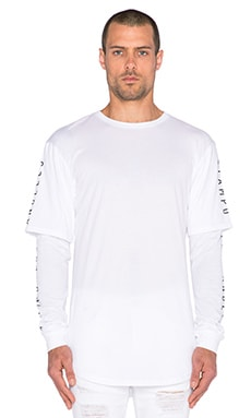 Stampd Layered L/S Tee in White