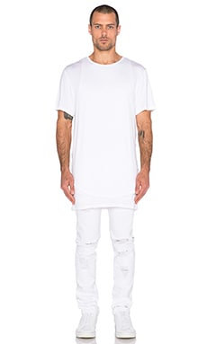 Stampd Double Layer Tee in White
