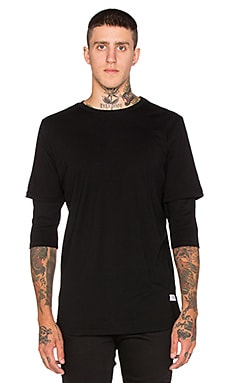 Stampd Dusk Double Layer Tee in Black