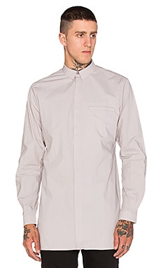 Stampd Elongated Button Down in Grey
