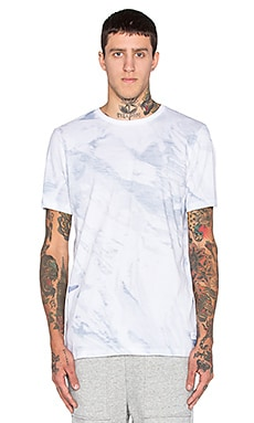 Stampd White Wash Printed Tee in Sky Form Print