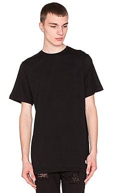 Stampd Elongated Tee in Black