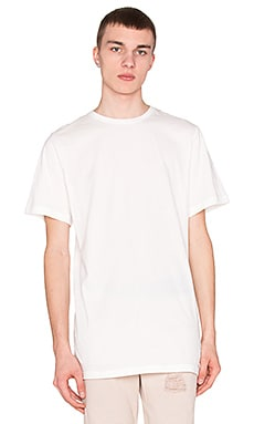 Stampd Elongated Tee in Cream
