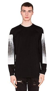 Stampd Dresdon L/S With Concrete Print in Black