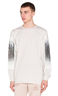Stampd Dresdon L/S Tee With Concrete Print in Oatmeal