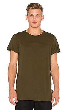 Stampd Chamber Scallop Tee in Olive