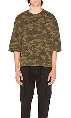 Camo Washed Oversized Tee