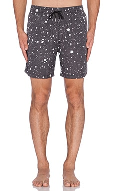 Stampd Splatter Swim Shorts in Black