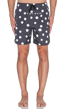 Stampd Large Polka Trunks in Black