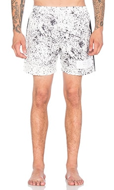 Stampd Speckle Print Trunk in White