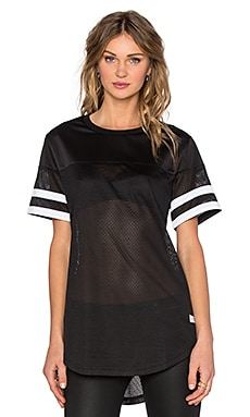 Stampd Mesh Scallop Jersey in Black