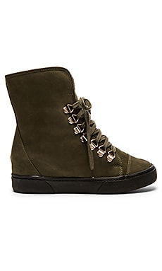 Saint & Libertine Nordic Sneaker With Faux Fur in Military