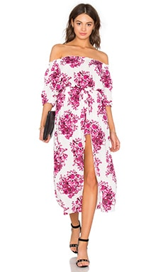 Steele Maya Maxi Dress in Crimson Bloom