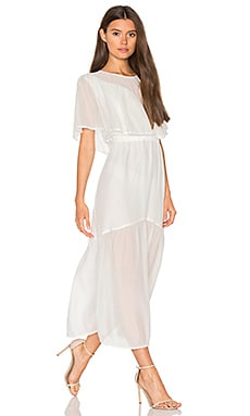Shaee Cape Maxi Dress in Ivory