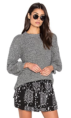 Steele Blake Knit Sweater in Grey Marle
