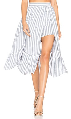 Harper Midi Skirt in Newport Stripe