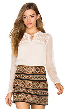 Long Sleeve Blouse in Beige