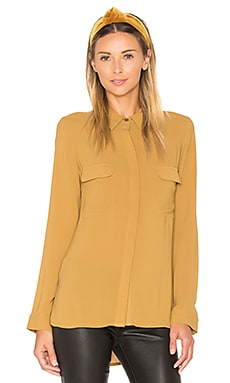 Button Down Top in Ambre