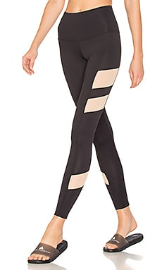 The Holden Legging en Noir & Mesh Nude