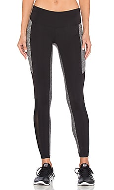 The Strut Legging in Black & Grey Moss & Mesh