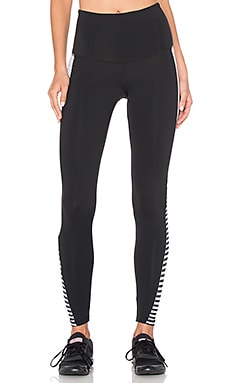STRUT-THIS The Grayson Legging en Rayé Noir & Pois