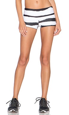 Stone Fox Sweat Mimosa Short in Black & White Stripe