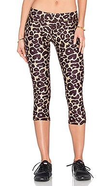 Stone Fox Sweat Muse Legging in Leopard