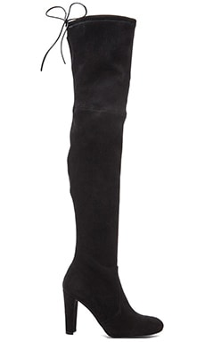 Stuart Weitzman Highland Boot in Black