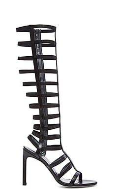 Stuart Weitzman Caged Up Heel in Black
