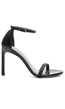 Stuart Weitzman Barebraid Heel in Black