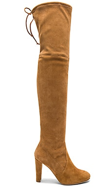 Highland Boot in Camel Suede
