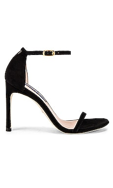 Nudistsong Heel in Black Suede