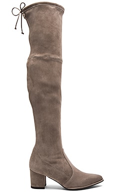 Thighland Boot in Taupe Suede