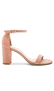 Nearlynude Heel in Naked Suede