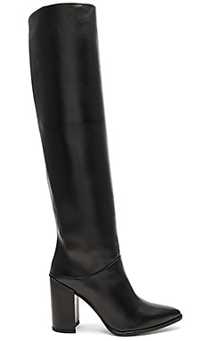 Scrunchy Boot in Black Nappa