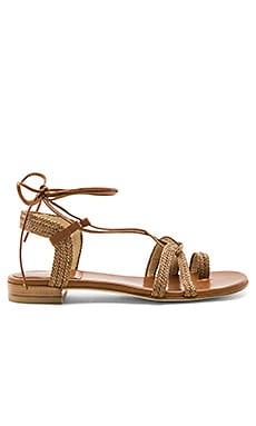 Looping Sandal in Cognac Nappa