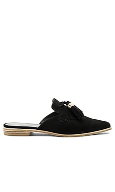 Slidelong Flat in Black Suede