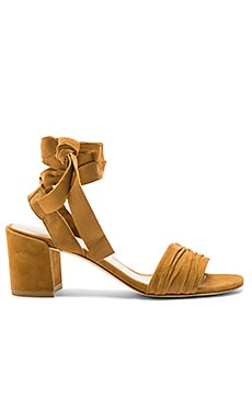 Swifty Heel in Camel Suede