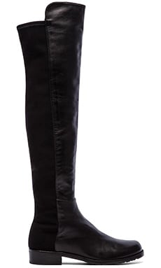 Stuart Weitzman 5050 Stretch Leather Boot in Black