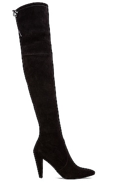 Stuart Weitzman Highstreet Suede Boot in Black