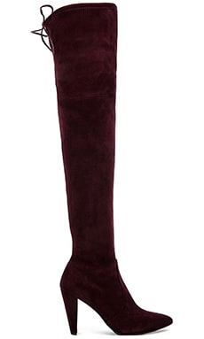 Stuart Weitzman Highstreet Suede Boot in Bordeaux Suede